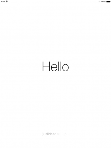 iPad Welcome ios7