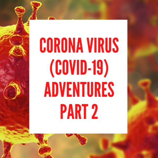 CORONA VIRUS (COVID-19) ADVENTURES PART 2